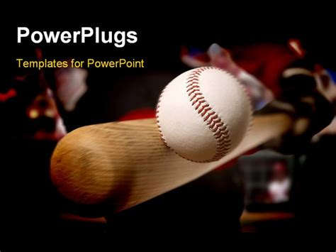 powerpoint themes free baseball baseball player makes contact with the ball and bat
