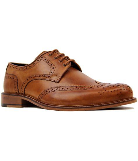 luke 1977 b rogue retro 1960s mod wing cap brogue shoes in