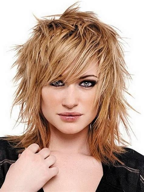 edgy haircuts with bangs messy edgy medium hairstyles with side bangs for straight