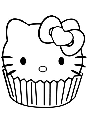 hello color pages hello cupcake coloring page free printable