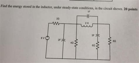 energy stored in inductor in steady state find the energy stored in the inductor stea chegg