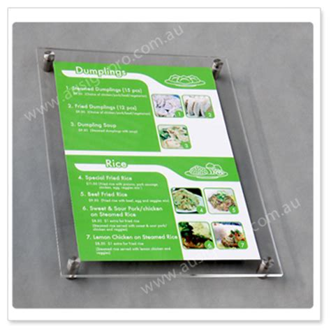 acrylic sandwich menu boards menu display panels perspex