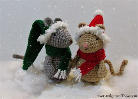 pattern for christmas mice crochet a christmas mouse to go with your reading of quot twas