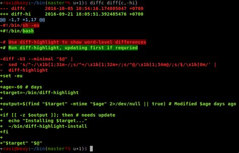 git tutorial unix bash how to color diff output unix linux stack exchange