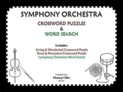 orchestra section crossword words activities and the o jays on pinterest