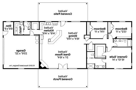 ranch home floor plan ranch house plans ottawa 30 601 associated designs