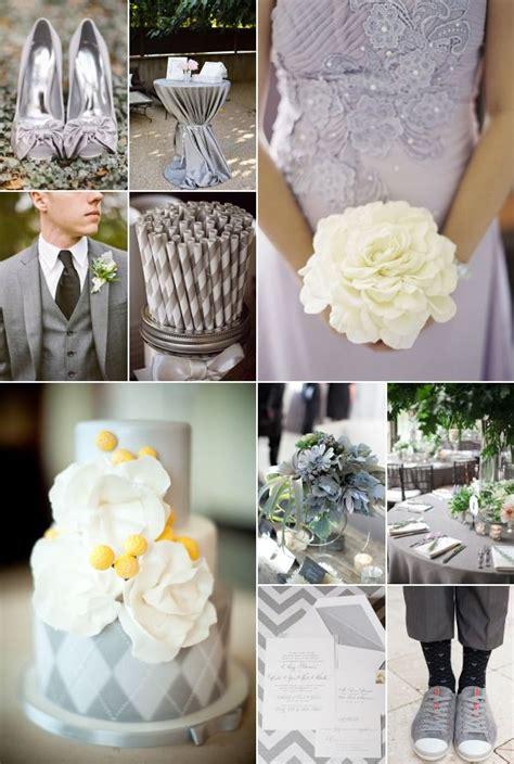 grey and silver wedding theme