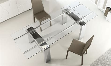 tavoli in vetro e acciaio tavoli allungabili vetro e acciaio tavoli e sedie cucina