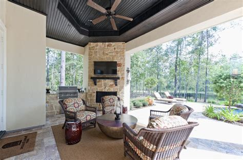 houston outdoor fireplace grill patio contemporary with