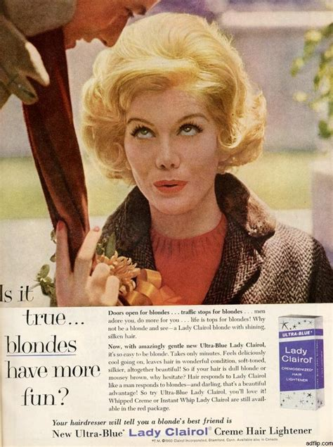 vintage clairol ads on pinterest clairol hair color lady clairol january 1961 vintage ads pinterest
