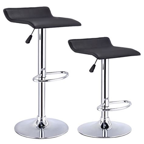 How To Prevent Large Stools by Costway Set Of 2 Swivel Bar Stools Adjustable Pu Leather