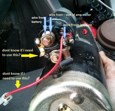 aftermarket starter motor solenoid wiring help ih8mud forum