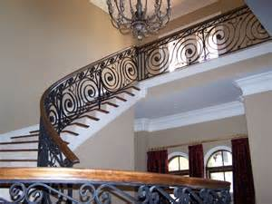 Stair Banister Rail Wrought Iron Railings Do It Yourself To Repair Them Eva