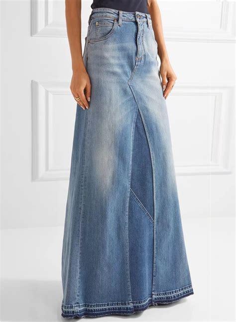 s fashion high waist denim maxi skirt azbro