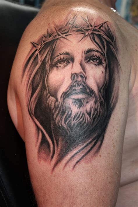 jesus portrait tattoo jesus tattoos and designs page 44