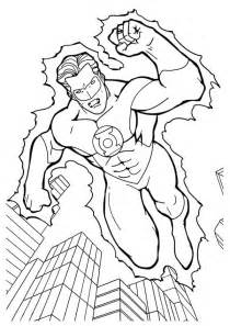 Green lantern coloring pages picture