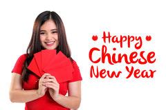 new year greeting gesture greeting gesture in dress stock