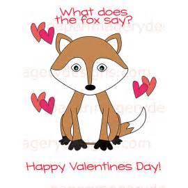 what to say on a valentines card what does the fox say valentines for 5 00 valentines