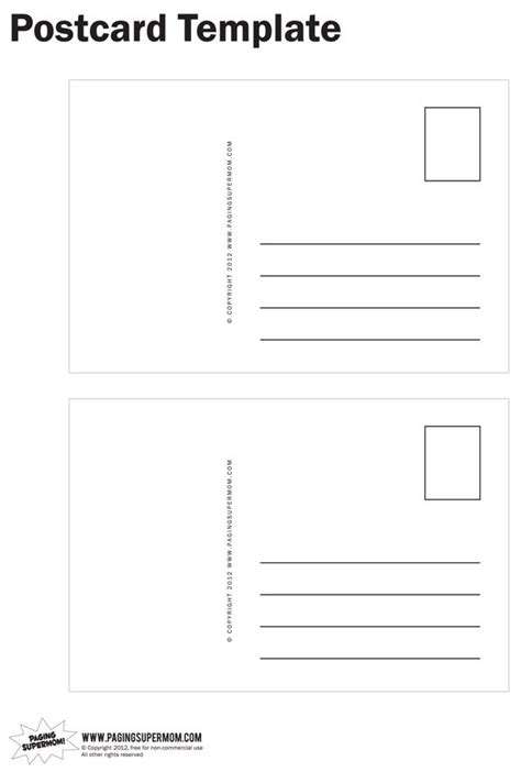 Postcard Template Perfect For Our Pen Pal Project Future Projects Pinterest Postcard Postcards To Students Template