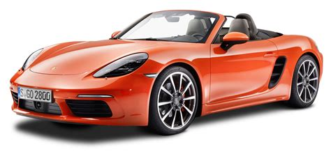 orange cars porsche 718 boxster s orange car png image pngpix