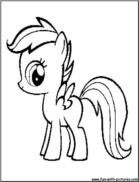 my little pony scootaloo coloring page free coloring pages of my little pony apple bloom