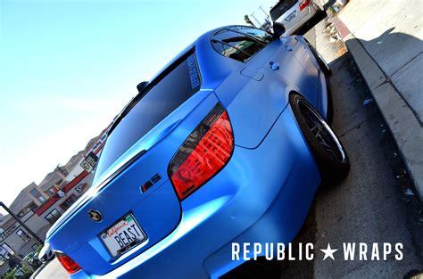 Stiker Matte Azure Blue republic wraps customs matte azure blue metallic wr 5series net forums