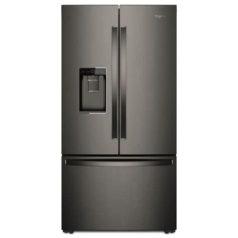 Whirlpool Cabinet Depth Refrigerator by Whirlpool 36 In W 24 0 Cu Ft Door Refrigerator