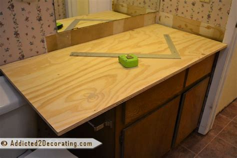 cheap diy wood countertops diy wood bathroom countertop bathroom redo