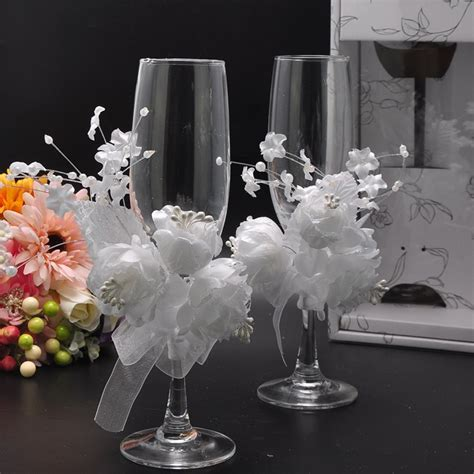 aliexpress com buy wedding chagne glass set decor