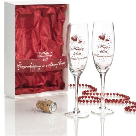 the choices for 40th wedding anniversary gifts