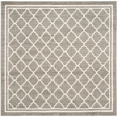 gray and beige area rug safavieh amherst gray beige 7 ft x 7 ft indoor outdoor square area rug amt422r 7sq the
