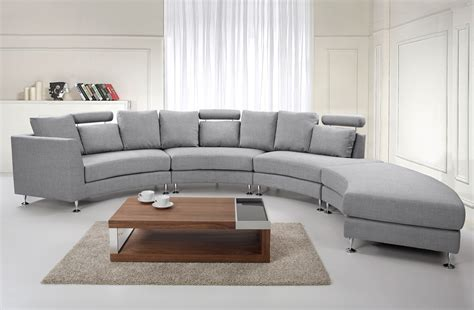 rounded couch seven seater couch grey rotunde upholstery round sofa