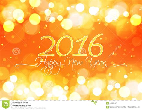 new year 2016 oranges happy new year 2016 on bokeh light orange background stock