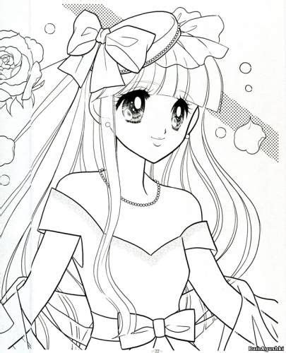 anime coloring book anime shoujo coloring pages vintage coloring book