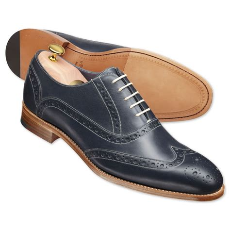 Handmade Goodyear Welted Shoes - handmade mens formal brogue wing tip black goodyear welted