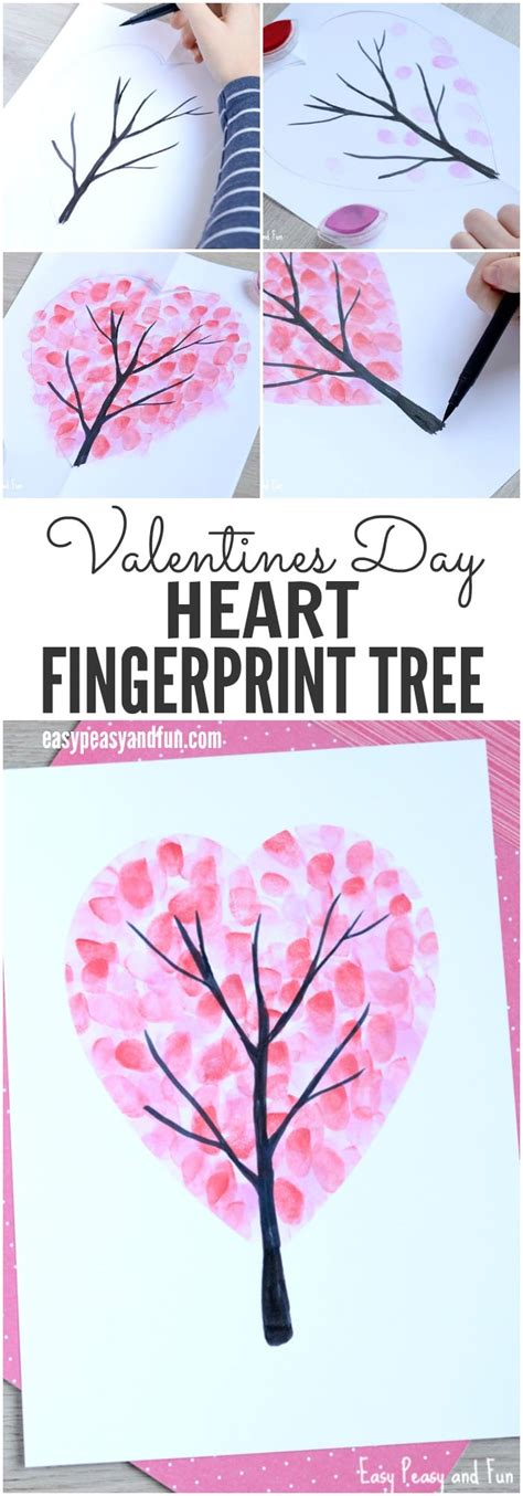 Wonderful Half Corner Christmas Tree #5: Valentines-Day-Heart-Fingerprint-Tree-Craft-for-Kids.jpg