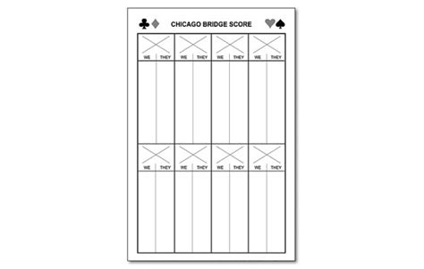 chicago bridge score cards templates chicago bridge score pad 5 5 x 8 5 50 sheets