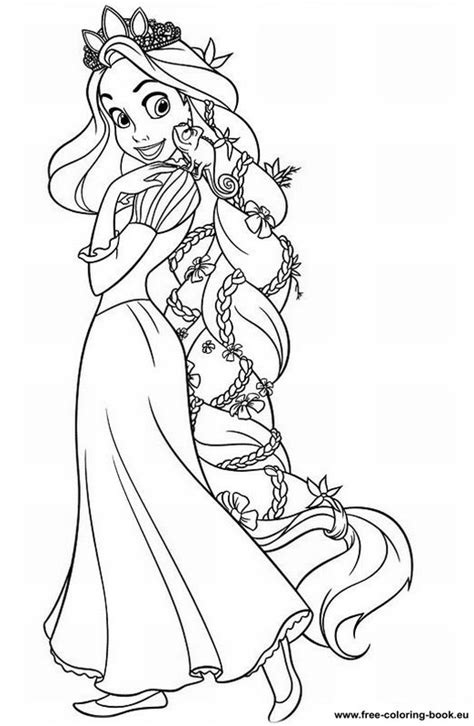 Coloring Pages Tangled Disney Rapunzel Page 1 Rapunzel Coloring Pages
