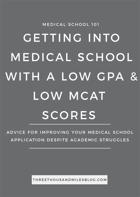Getting Into Mba School With Low Gpa by How To Get Into School With A Low Gpa And Mcat