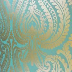 i love wallpaper shimmer damask metallic wallpaper rich teal gold ilw980014 i love