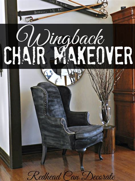 wingback chair makeover can decorate
