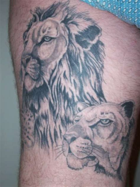 lion and lioness tattoos tattoo collections