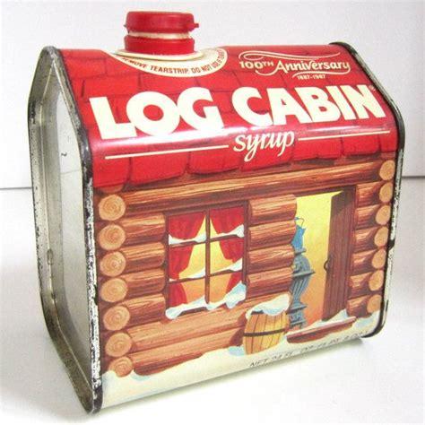 log cabin syrup  tins