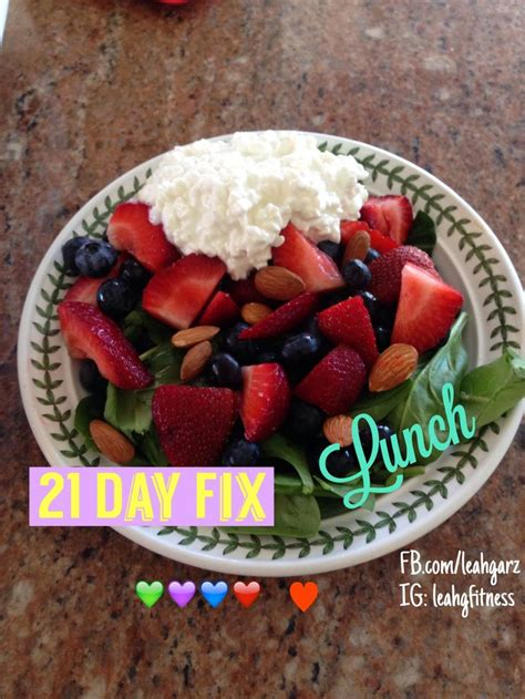 fruit 21 day fix cottage cheese almond and fruit salad 21 day fix lunch