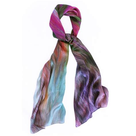 lirio silk satin chiffon scarf by collicott