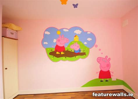 peppa pig wall mural princess bedrooms fairytale mural pink bedrooms bedrooms pony