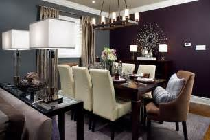 Dining rooms interior dining table room ideas purple walls accent