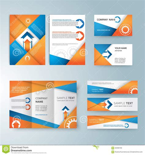 credit card brochure template corporate identity templates with blank name stock