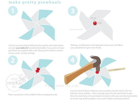 How To Make A Paper Pinwheel That Spins - make pinwheels you make do