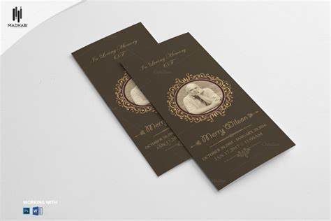 20 funeral brochure template word indesign and psd